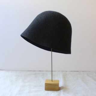 mature ha./free hat back stitch(charcoal melange)