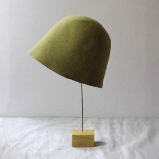 mature ha./free hat back stitch(light green melange)
