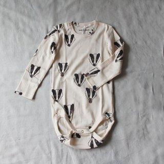 mini rodini/アナグマのロンパース【price down】