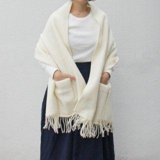 LAPUAN KANKURIT/UNI ポケットショール(ホワイト)