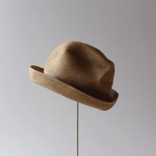 mature ha./BOXED HAT 7cm brim(mix brown×pink beige)