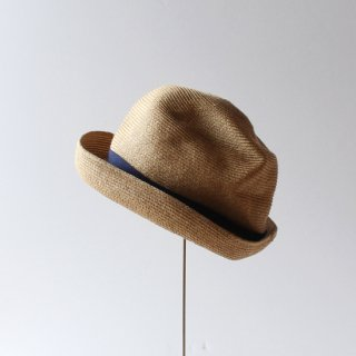mature ha./BOXED HAT 7cm brim(mix brown×navy)