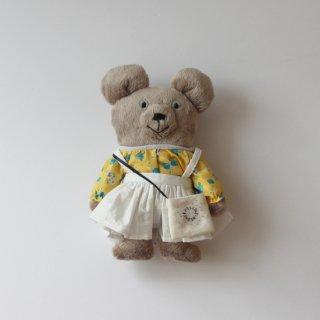 サリークシー/くまのぬいぐるみ(白のジャンパースカート)