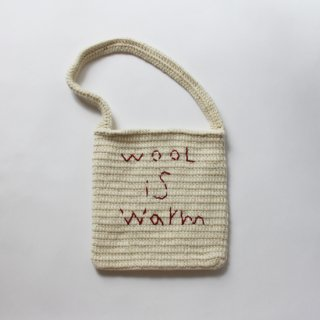pot and tea/wool is warmバッグ(アイボリー)