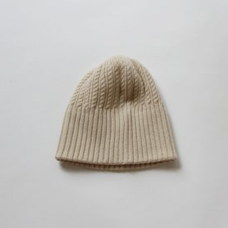 mature ha./long rib knit cap tiny rope lamb(off white)