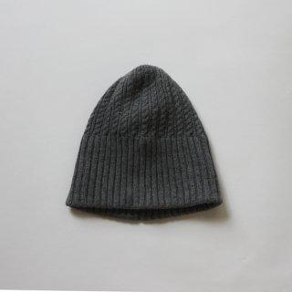 mature ha./long rib knit cap tiny rope lamb(midium grey)