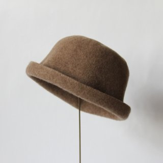 mature ha./bell hat cashmere & lamb(light brown)