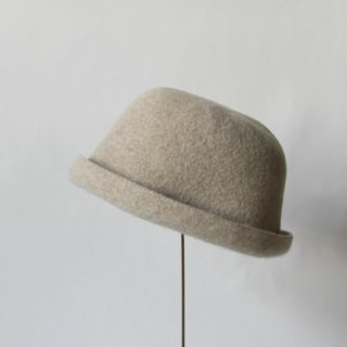 mature ha./bell hat cashmere & lamb(light beige)