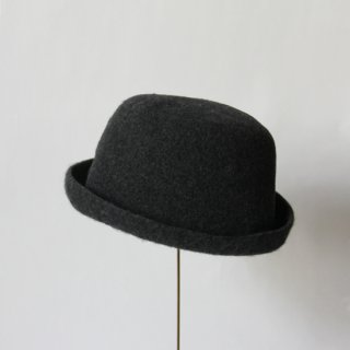 mature ha./bell hat cashmere & lamb(dark charcoal)
