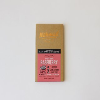 Nohmad Snack/Freeze Dried Raspberry-74% Cacao
