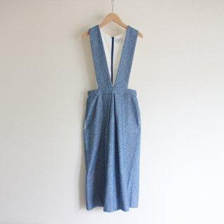 sneeuw/パイルジャンパースカート(ブルー)【price down】