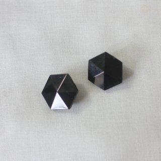 Amito/アンティークガラスボタンイヤリング