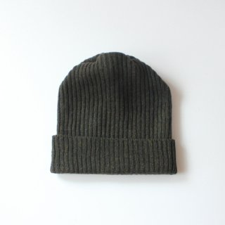 mature ha./pleats nit cap(moss green)