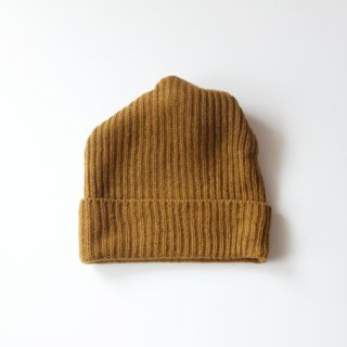 mature ha./pleats nit cap(mustard)