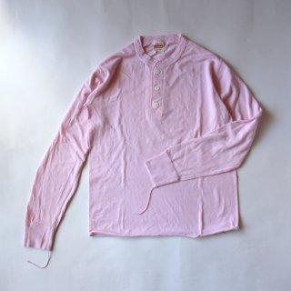 Healthknit/ヘンリーネック 長袖Tシャツ 906L(pink)