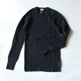 Healthknit/スーパーヘビーワッフル ARMYクルーネック 長袖Tシャツ(Dark Navy)