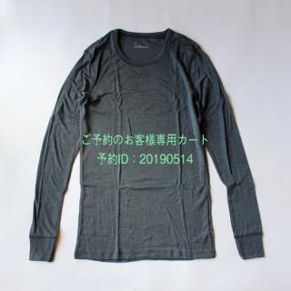 【ご予約のお客様】JOHA/メンズ シルクウールロングスリーブTシャツ(グレー)