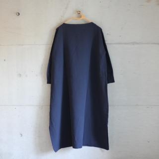 koton/ガーゼボートネックワンピース(ネイビー)【price down】