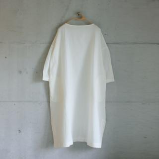 koton/ガーゼボートネックワンピース(ホワイト)【price down】