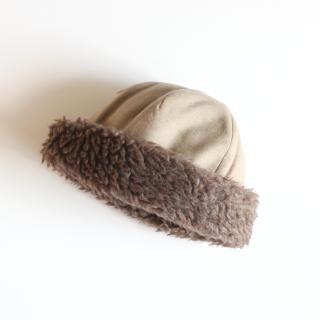 mature ha./hood cap(light beige)