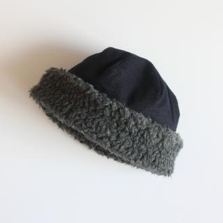 mature ha./hood cap(navy)