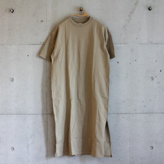 Healthknit/アメリカンジャージー 半袖ワンピース(beige)