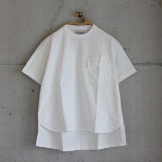 OUVERT/BD甘撚り引き揃え天竺Tシャツ(オフ)