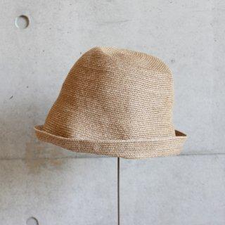 mature ha./free hat linen(mix brown)