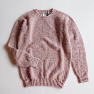 Harley of Scotland/J.C.RENNIE&CO シェットランドウール クルーネックセーター(Pink Haar)