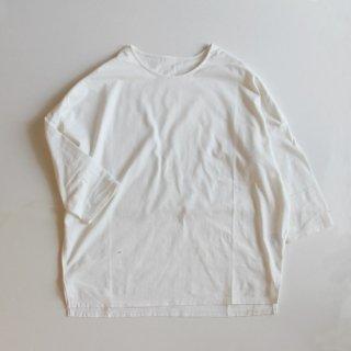 koton/30/_度詰天竺ドロップショルダーTシャツ(ホワイト)