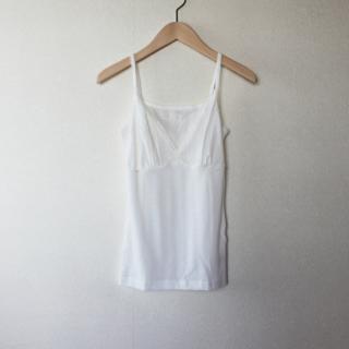joha/FLIPPA シルクウールキャミソール(ホワイト)