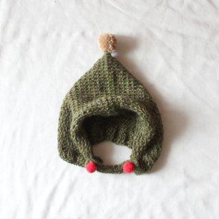 サリークシー/ポンポンニット帽(カーキ)