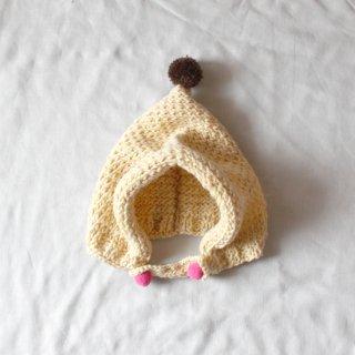 サリークシー/ポンポンニット帽(クリーム)