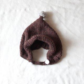 サリークシー/ポンポンニット帽(ブラウン)