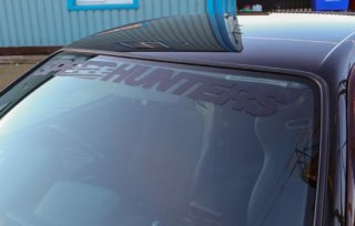 Windshield Sticker Black