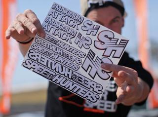 Speedhunters White Sticker Sheet