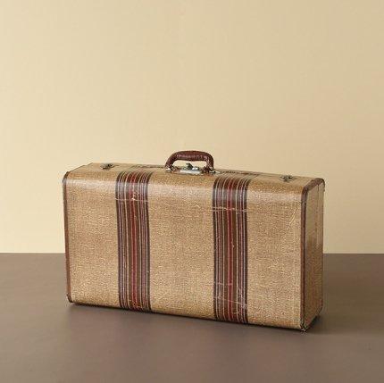 ストライプ柄スーツケース