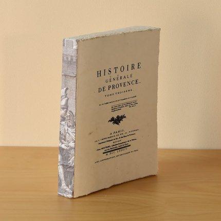 リネン製ノート BOOK  HISTOIRE GENERALE DE PROVENCE