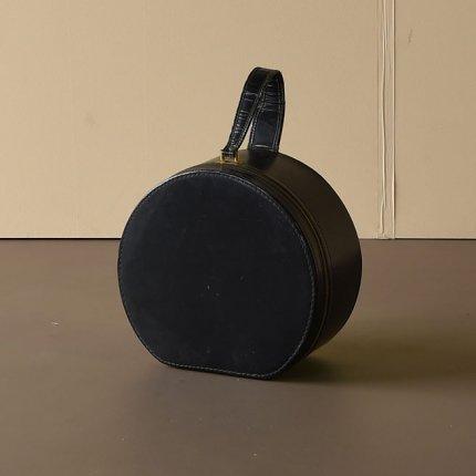 帽子箱/ブラックレザー