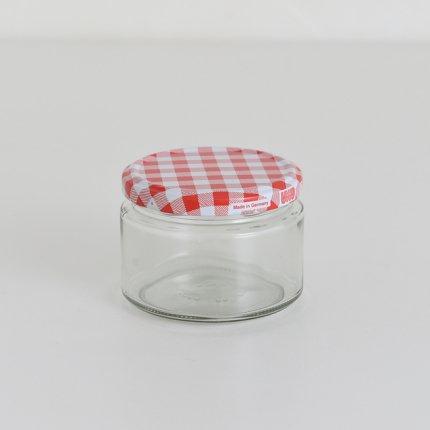 ガラスキャニスター/ドイツ/270ml/レッド