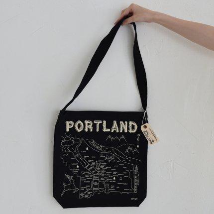 グローサリートート「PORTLAND」/ブラック