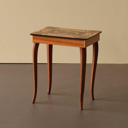 サイドテーブル 寄木天板
