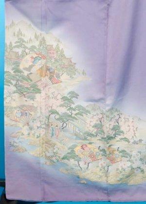TI548トールワイド色留袖レンタル(裄69-73身長149-169ヒップ91-116)正絹 薄紫色 織 [祇園の舞]【新品同様】