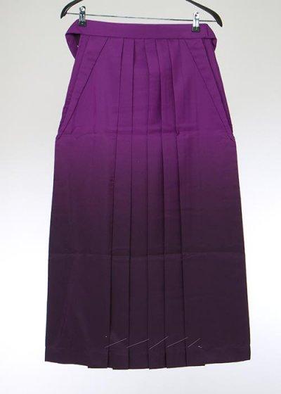 HA91-40女袴レンタル(身長155-160普通巾)紫 濃淡ぼかし