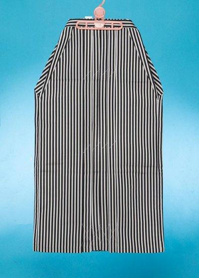 MH94-16男袴レンタル紐下94(身長175-180cm前後 胴回りは普通巾)グレー黒ストライプ 仙台平タイプ