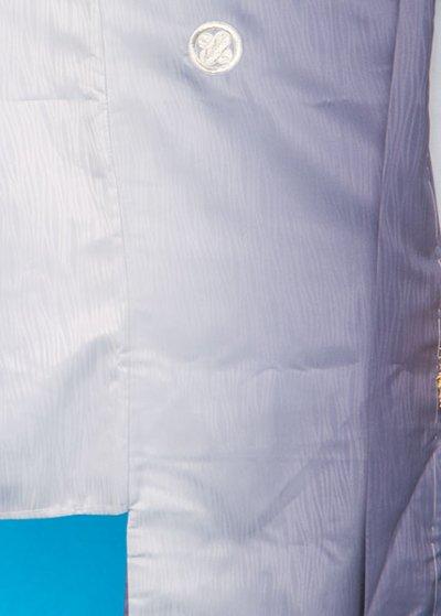 MP75-16トール紋付レンタル 裄75(身長175)青紫/グレー縦ぼかし[J-TREND]【新品未使用】