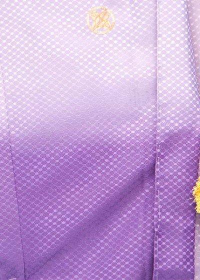MP74-22紋付レンタル裄74 身長175胴回り74-104  紫濃淡ぼかし