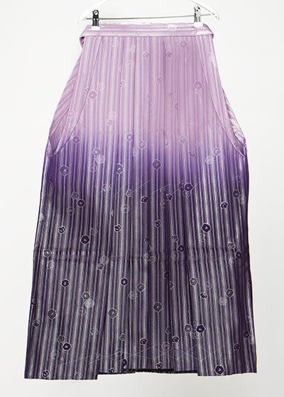 MH90-21男袴レンタル 紐下90(身長165-170前後 胴回り110まで) 紫ぼかし銀ストライプ 椿 [遊助]上地雄輔