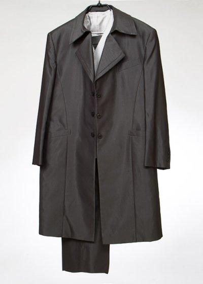 TA9E-15フロックコートレンタル(身長190-195 肩幅53袖丈63ウエスト85-117)濃いグレー
