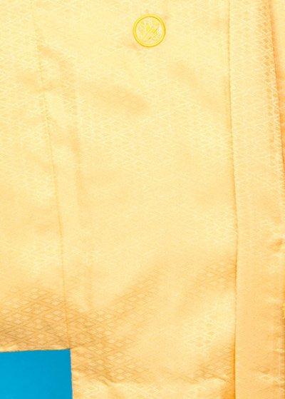 MP80-13紋付レンタル 裄80(身長190 胴回り78-108) 黄色系 明るい山吹色